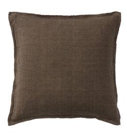 Bungalow Soft linen cushioncover 50x50cm chocolate