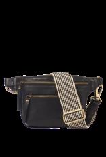 OMyBag Beck's Bum bag Black -checkered strap