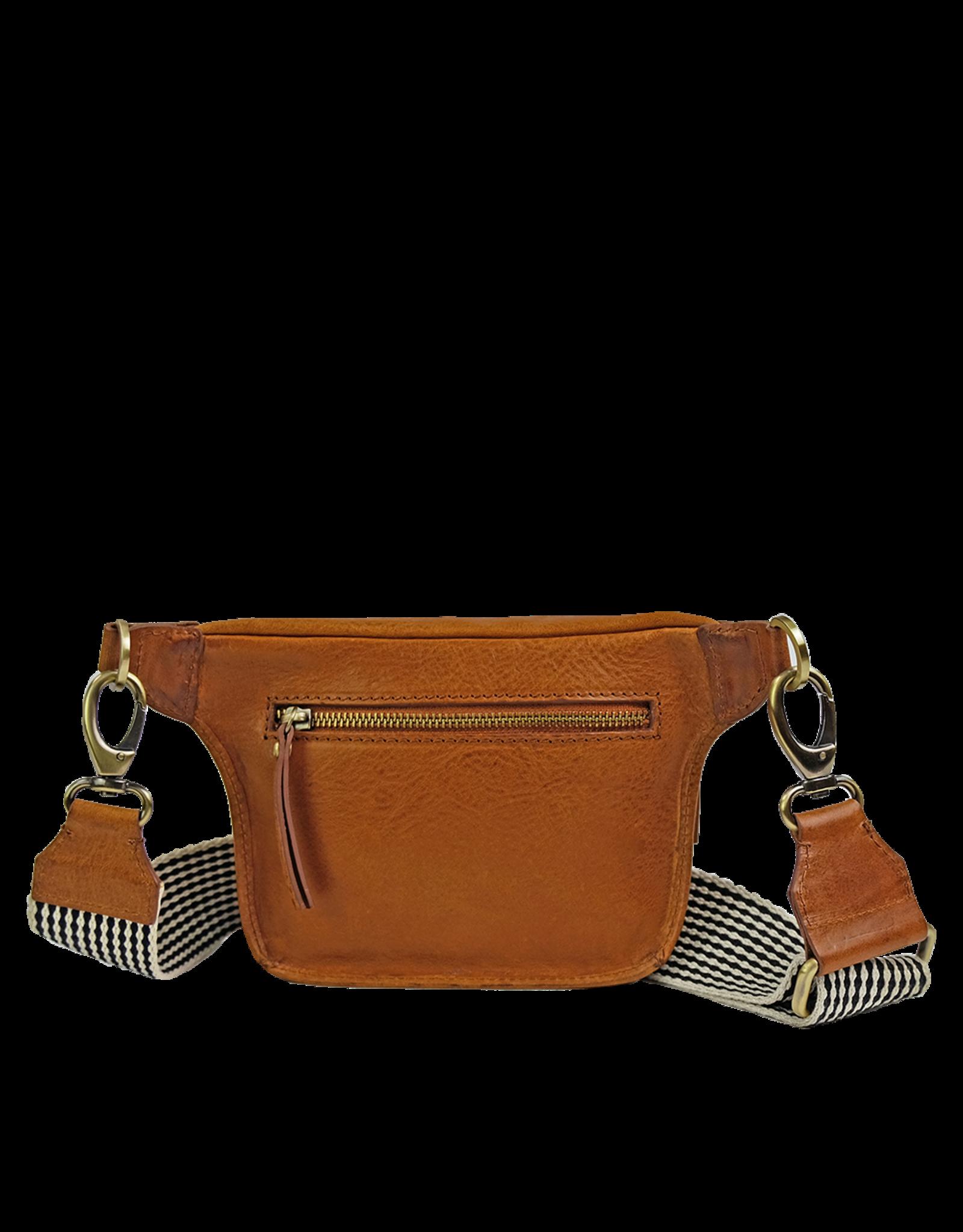 OMyBag Beck's Bum Bag Cognac Checkered Strap