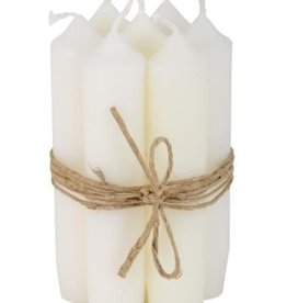 IBLaursen short dinner candle white