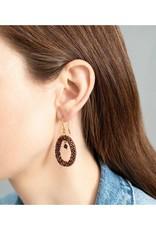 A Beautiful Story Earrings 'Faith' - Garnet