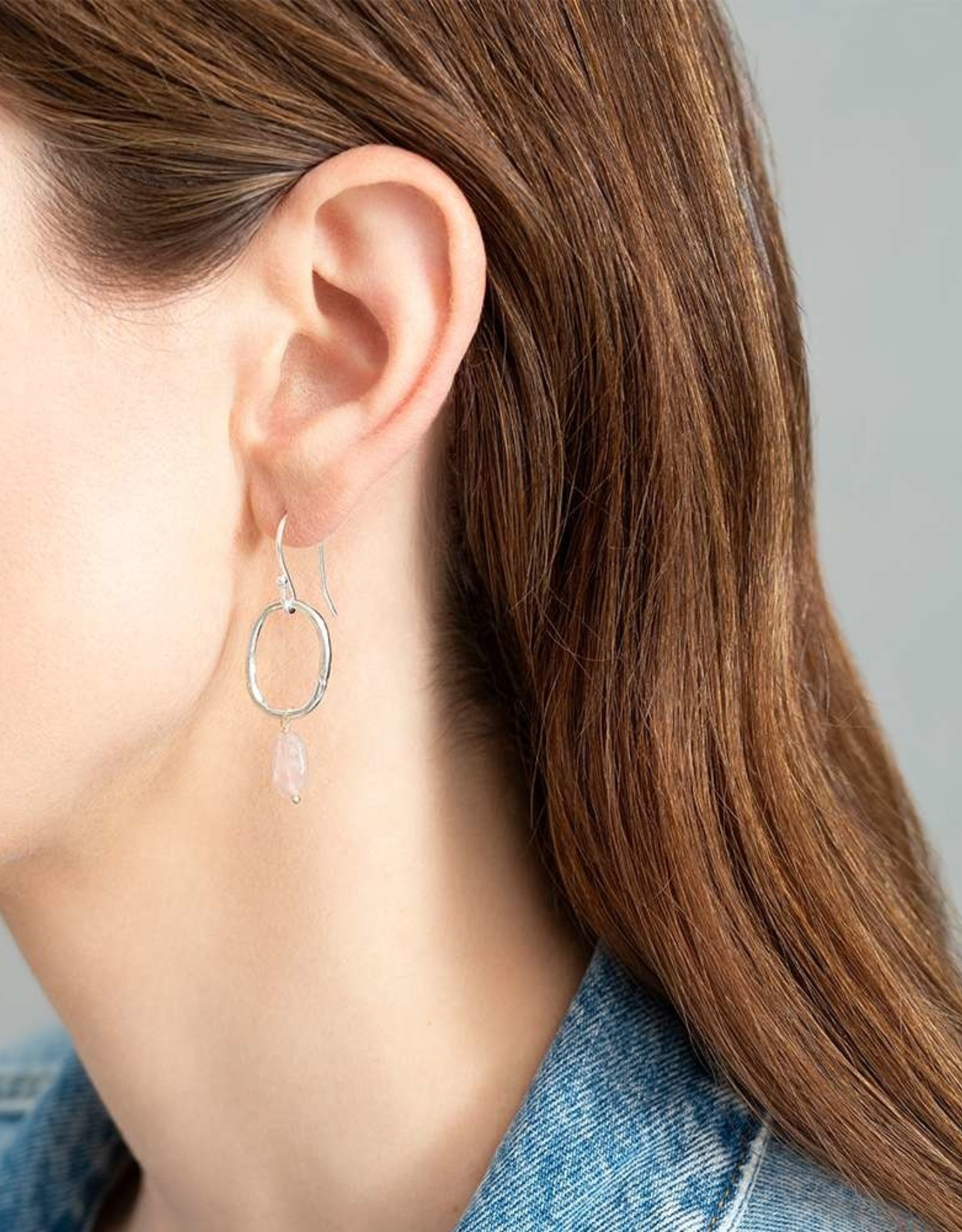 A Beautiful Story Earrings 'Graceful' - Rose Quartz
