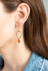 A Beautiful Story Earrings 'Graceful' - Carnelian