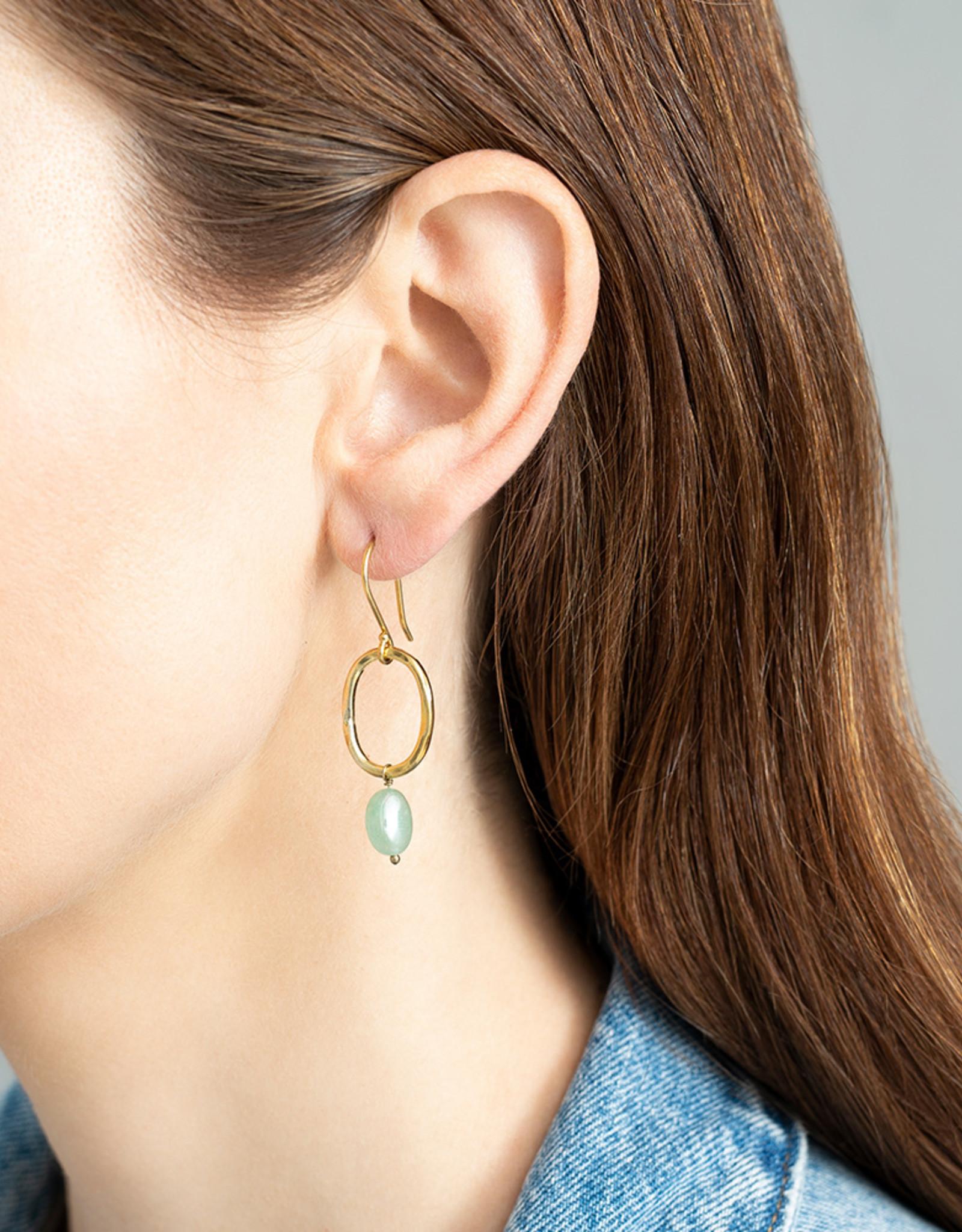 A Beautiful Story Earrings 'Graceful' - Aventurine
