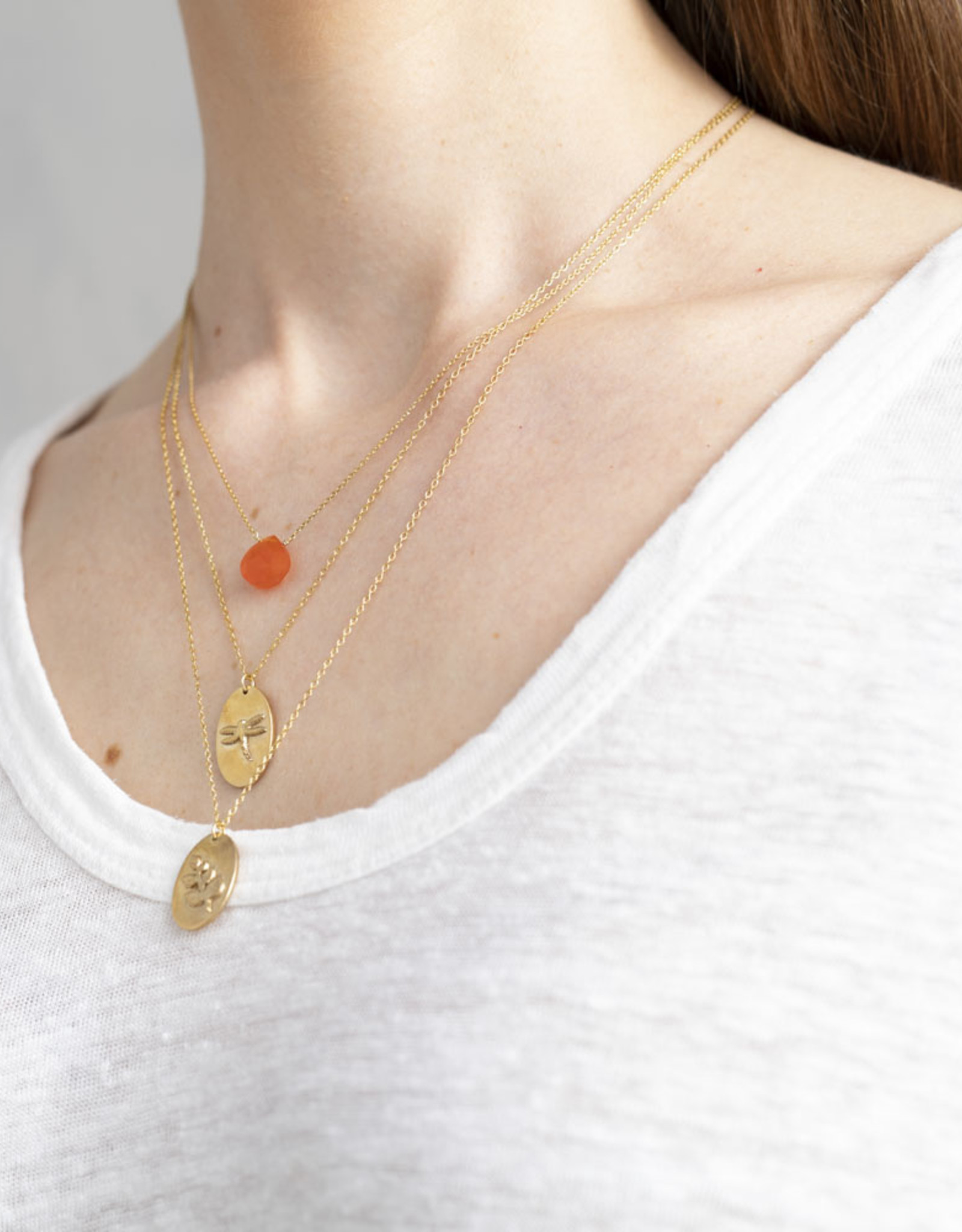 A Beautiful Story Necklace 'Wonderful Libelle' - Gold