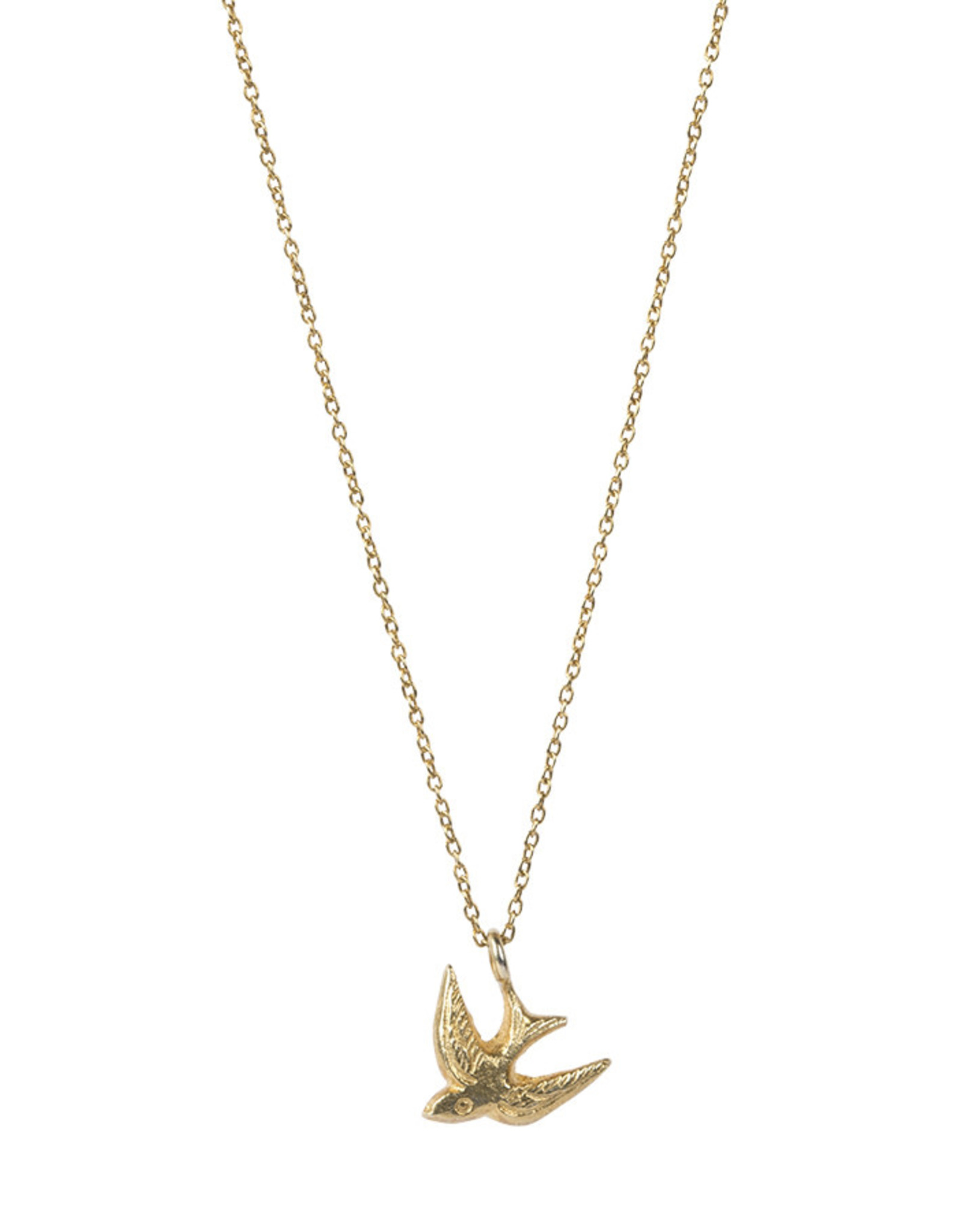 A Beautiful Story Necklace 'Delicate Swallow' - Gold