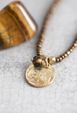 A Beautiful Story Ketting 'Truly' - Tiger Eye Tree Gold