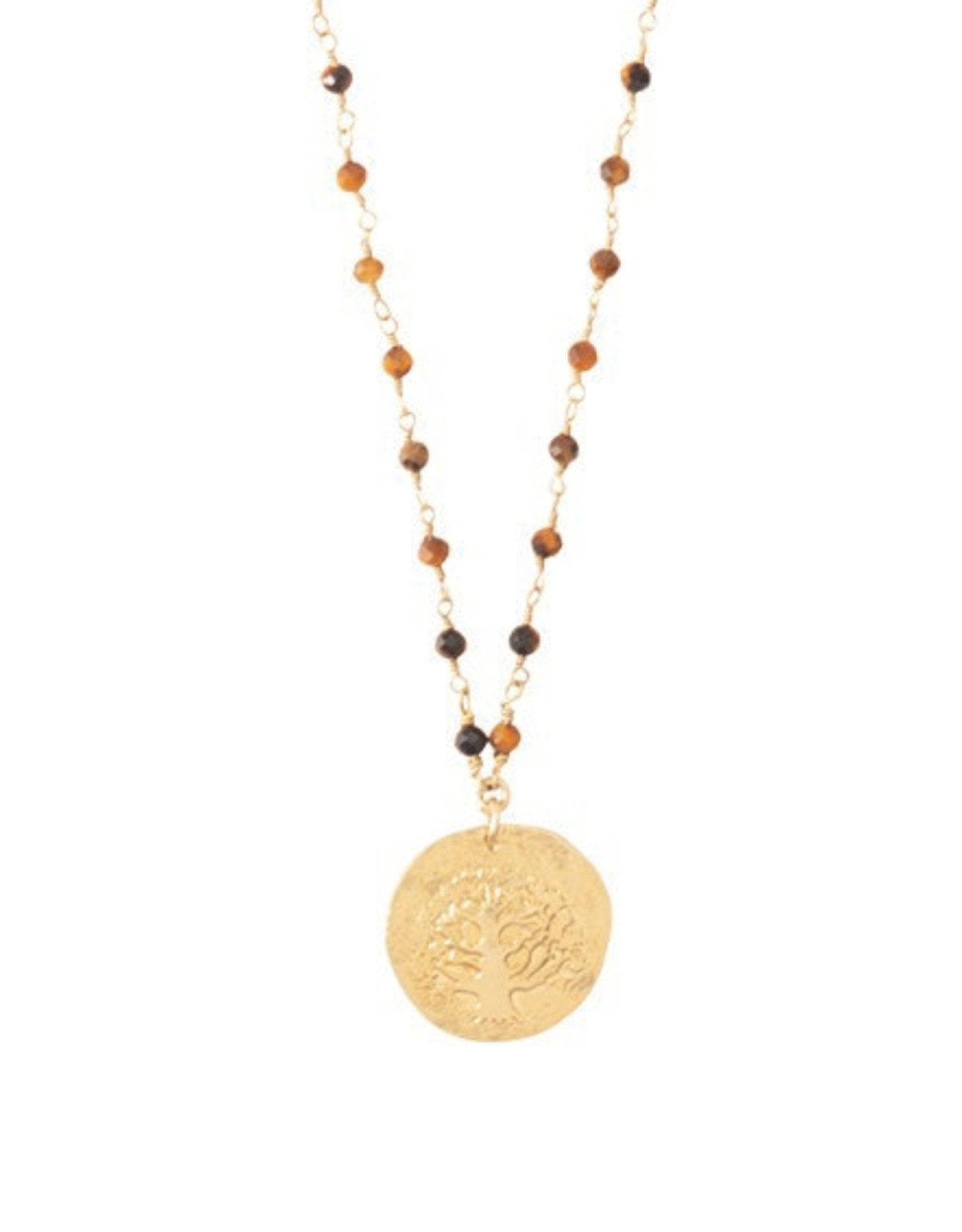 A Beautiful Story Necklace 'Rosary Tiger Eye'
