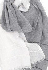 Lapuan Kankurit Grey White Linen Tsavo Scarf