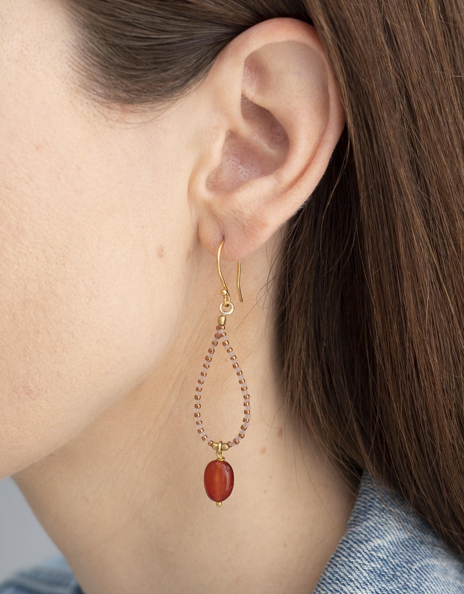 A Beautiful Story Earrings 'Magical' - Carnelian