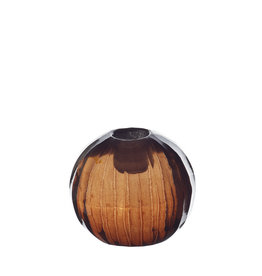 TineK Home Round Port Glass Facet Candle Holder