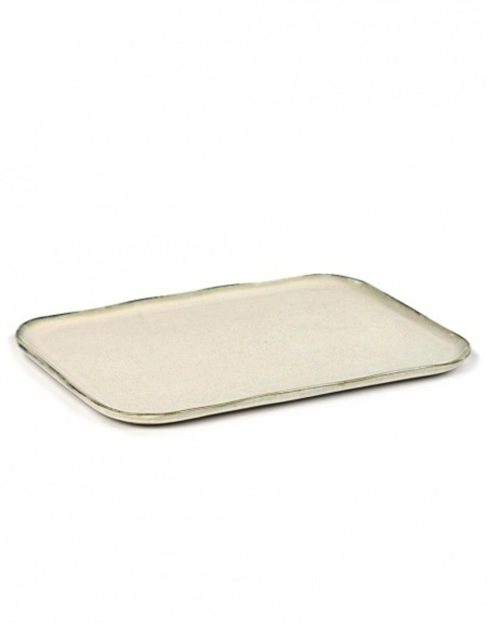 Serax Off White Sandstone No 1 Rectangular Plate