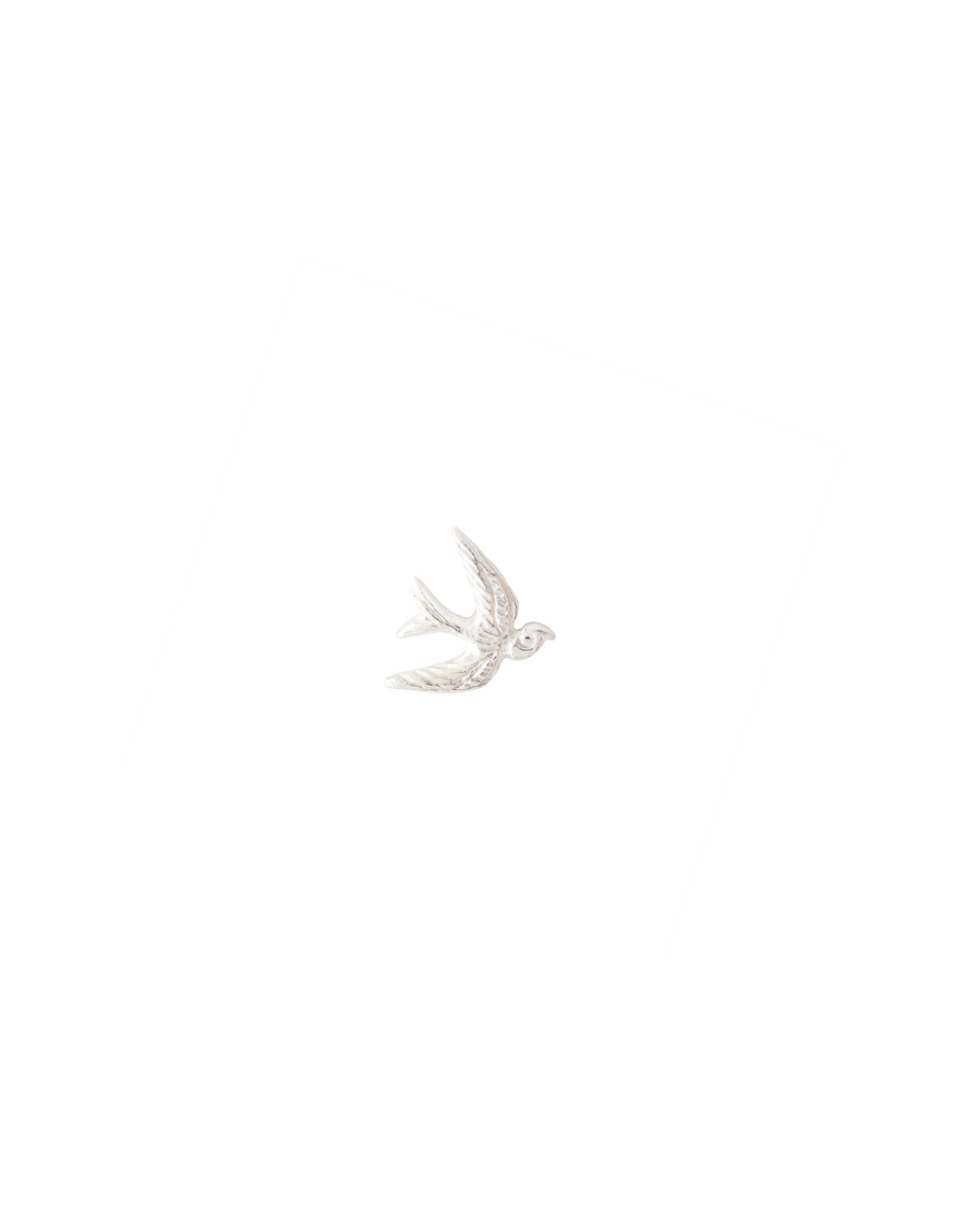 A Beautiful Story Oorbel 'Symbol' - Swallow Zilver