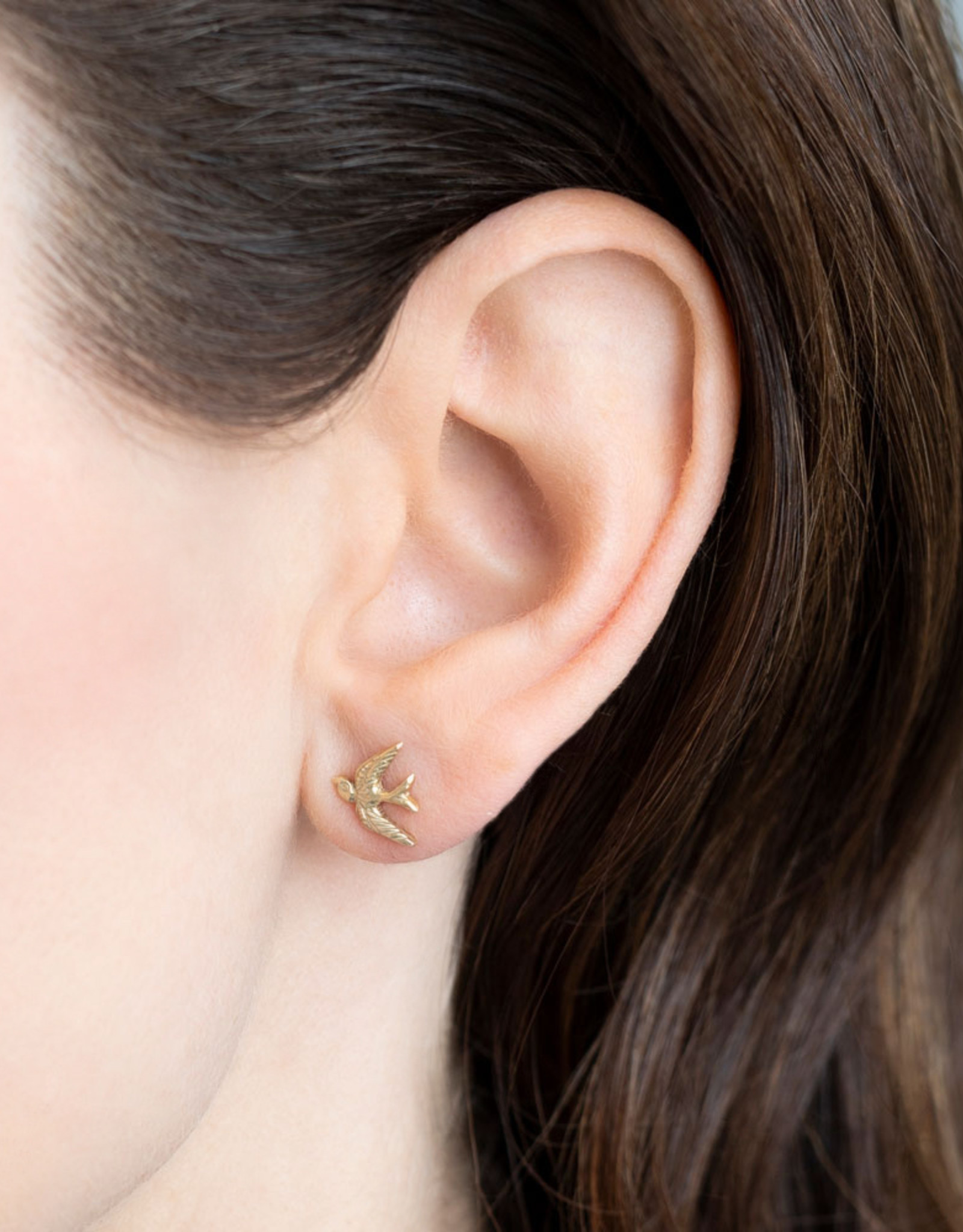 A Beautiful Story Earring 'Symbol' - Swallow Gold
