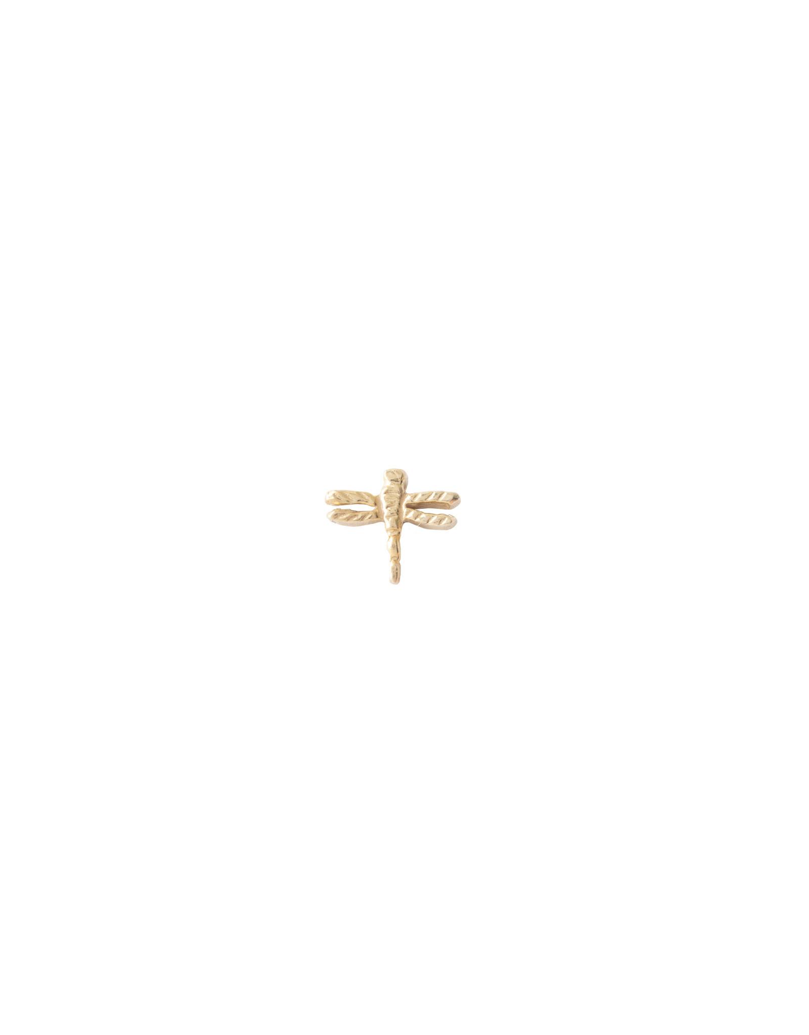 A Beautiful Story Oorbel 'Symbol' - Dragonfly Goud