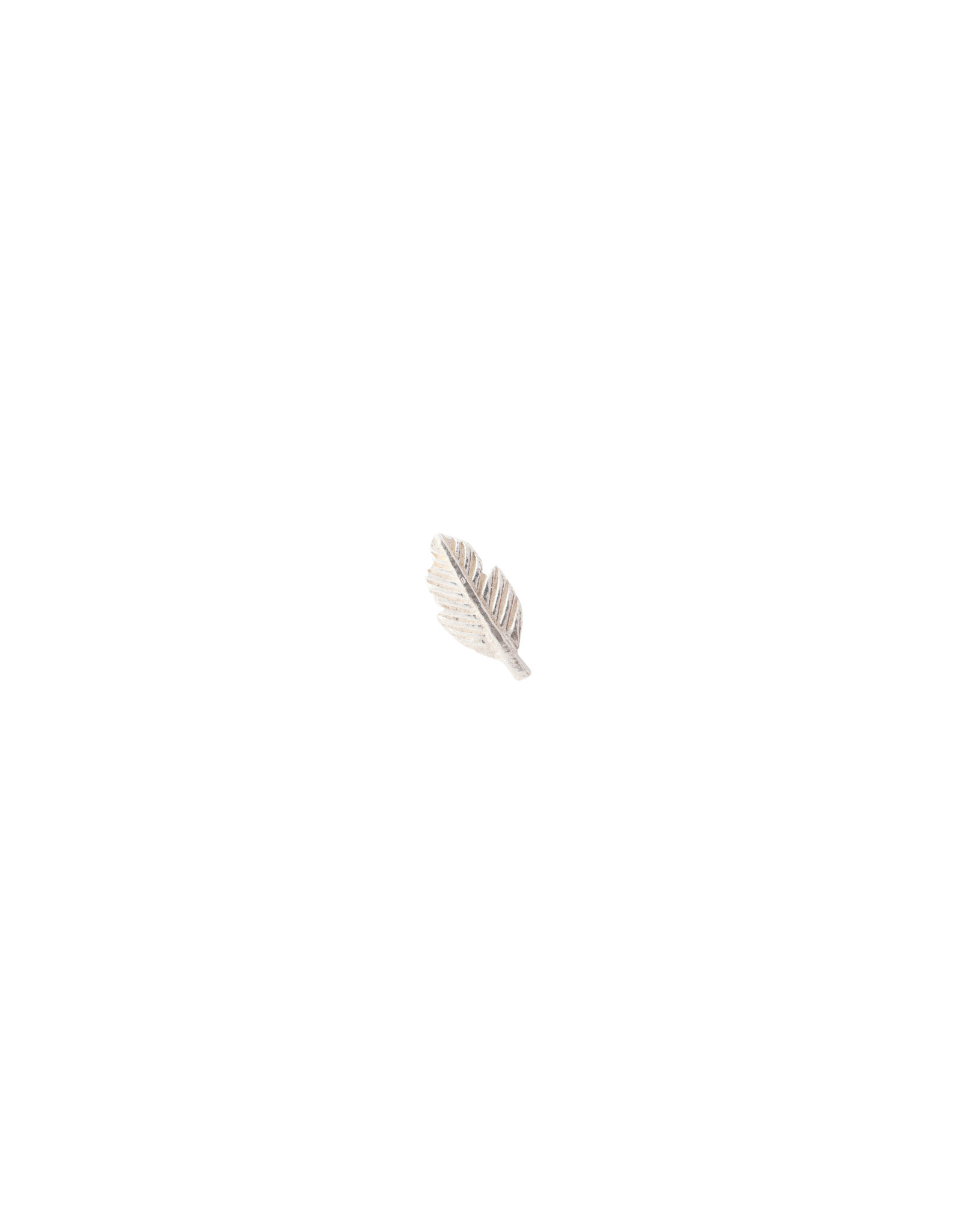 A Beautiful Story Earring 'Symbol' - Feather Silver