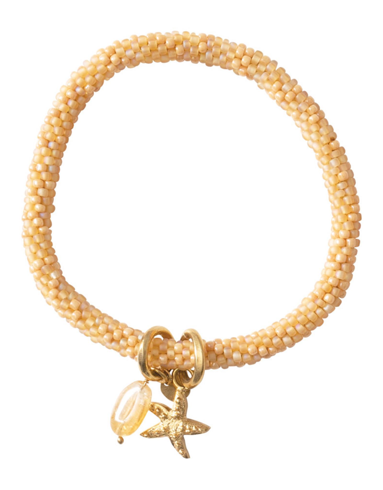 A Beautiful Story Bracelet 'Jacky' - Citrine