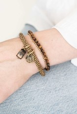 A Beautiful Story Armband 'Jacky' - Tiger Eye