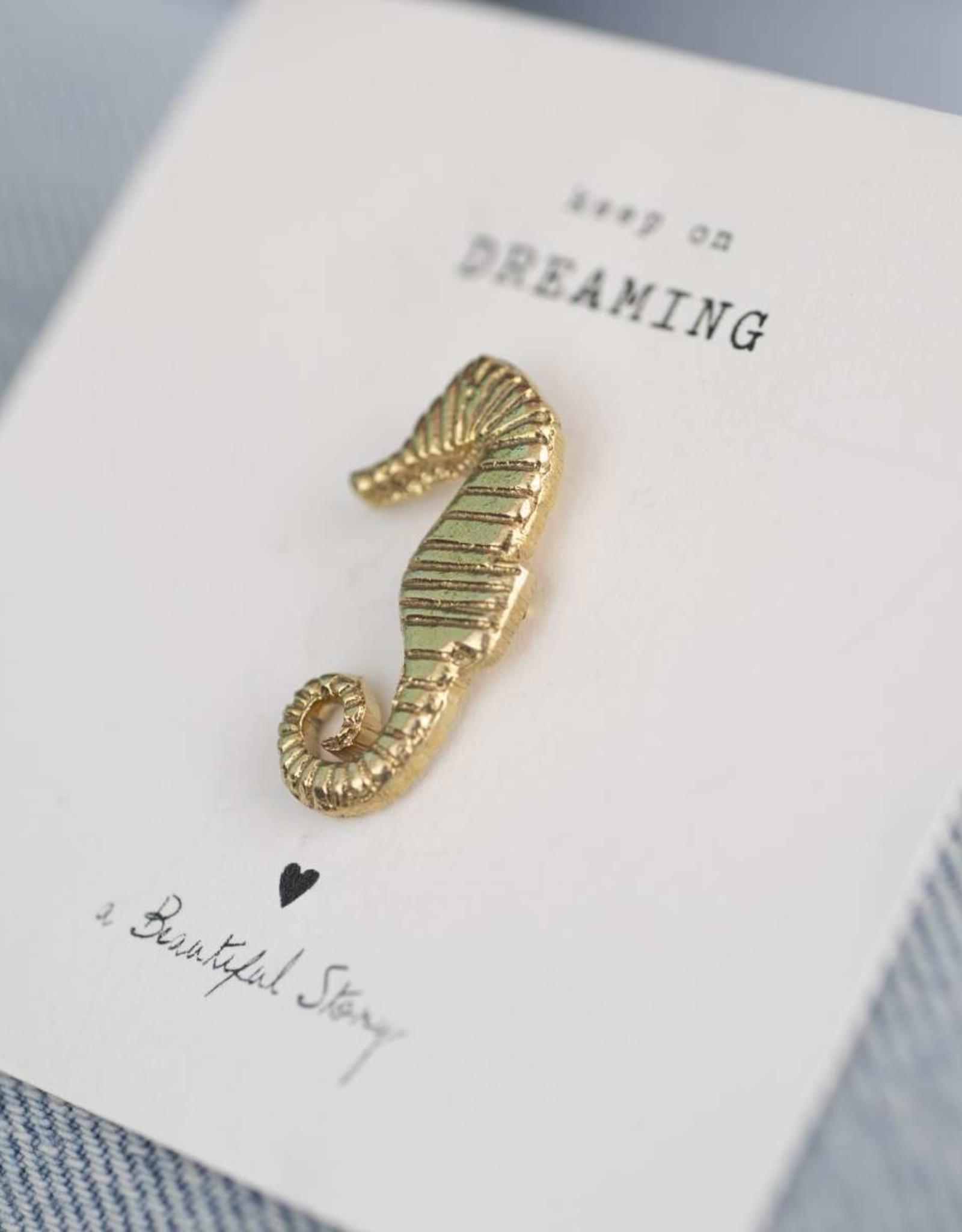 A Beautiful Story Brooch - Seahorse