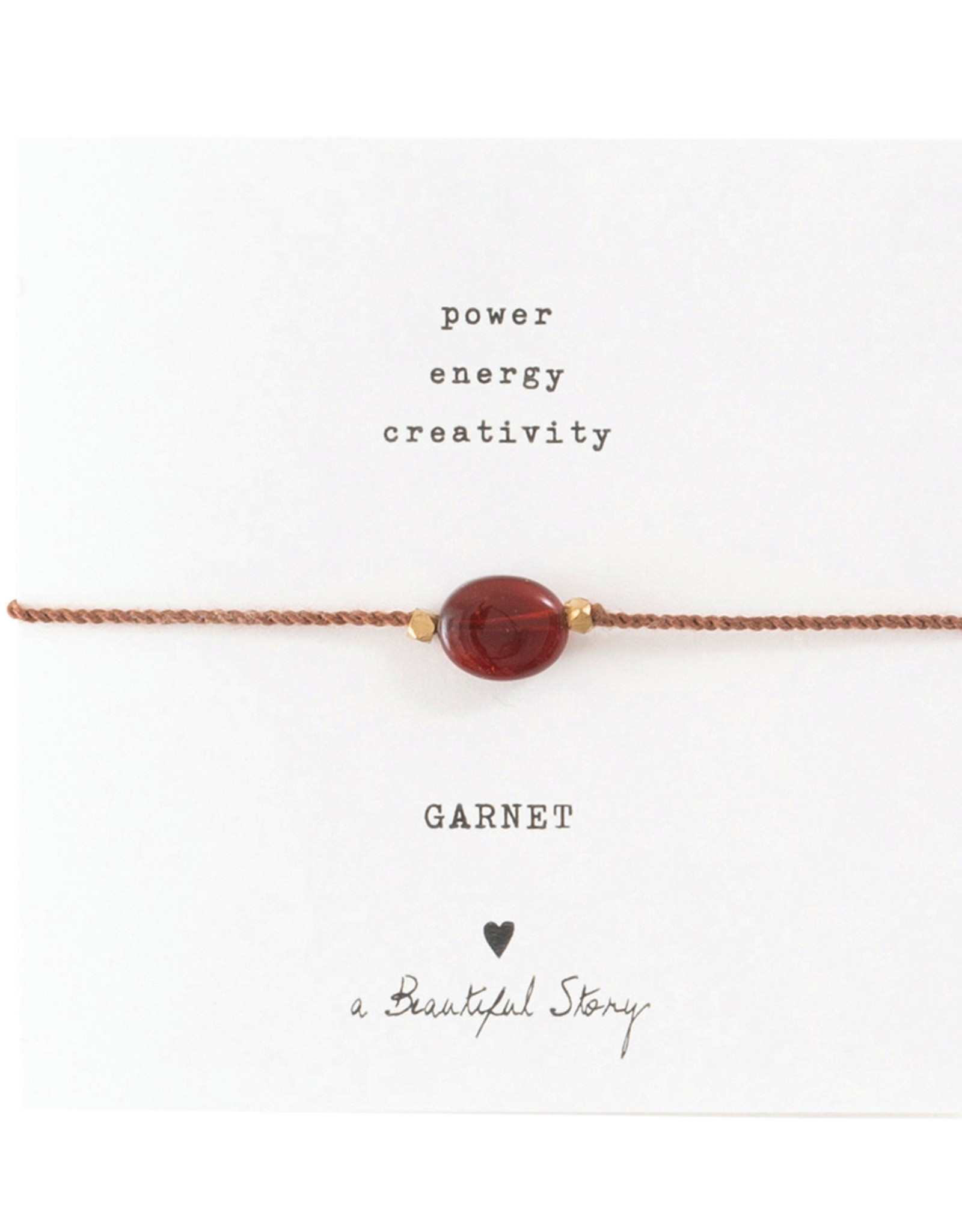 A Beautiful Story Bracelet 'Gemstone Card' - Garnet