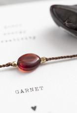 A Beautiful Story Armband 'Gemstone Card' - Garnet