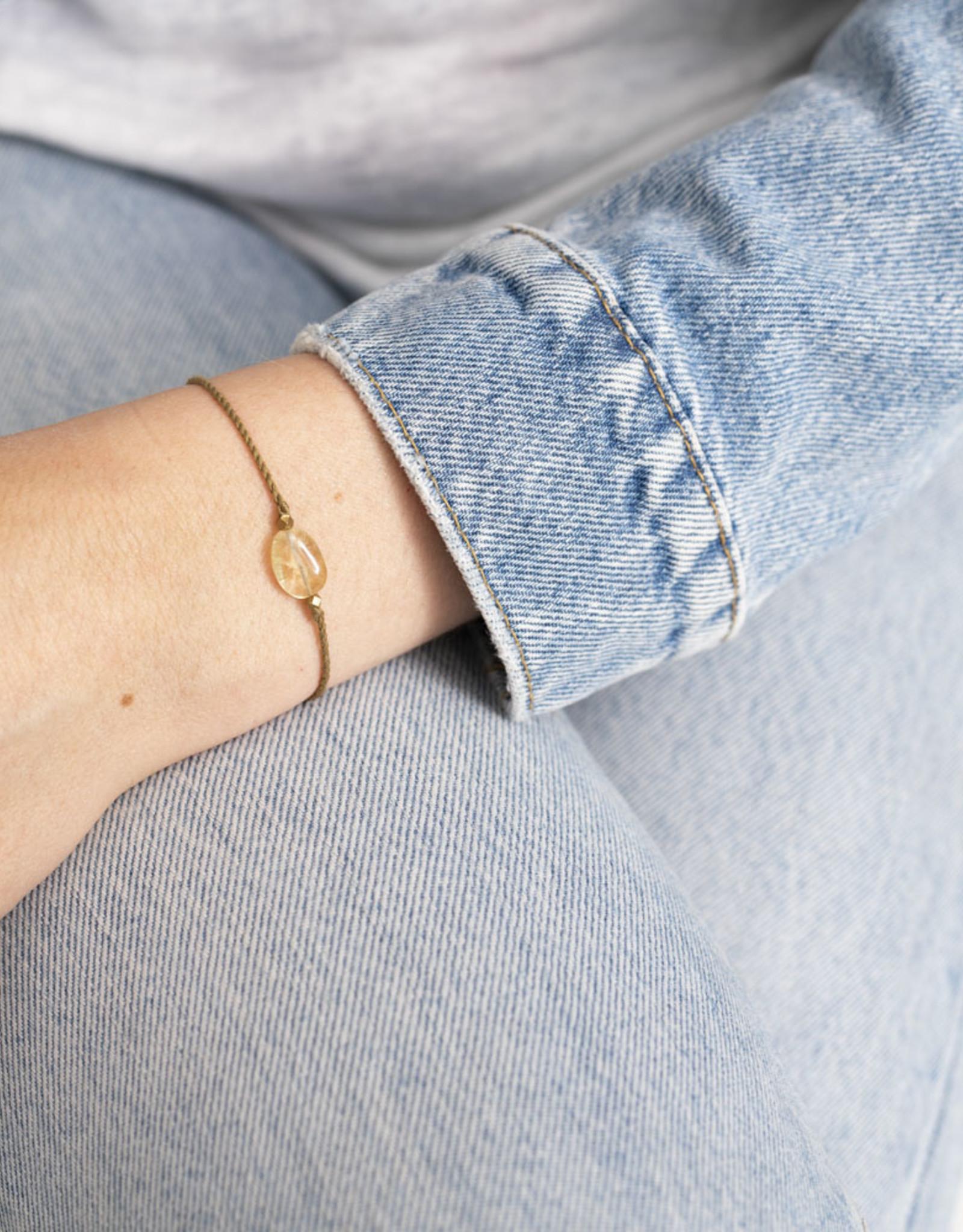 A Beautiful Story Bracelet 'Gemstone Card' - Citrine