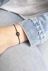 A Beautiful Story Bracelet 'Gemstone Card' - Black Onyx