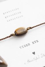 A Beautiful Story Bracelet 'Gemstone Card' - Tiger Eye