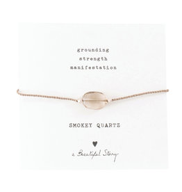 A Beautiful Story Bracelet 'Gemstone Card' - Smokey Quartz