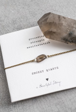 A Beautiful Story Armband 'Gemstone Card' - Smokey Quartz