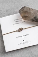 A Beautiful Story Bracelet 'Gemstone Card' - Smokey Quartz
