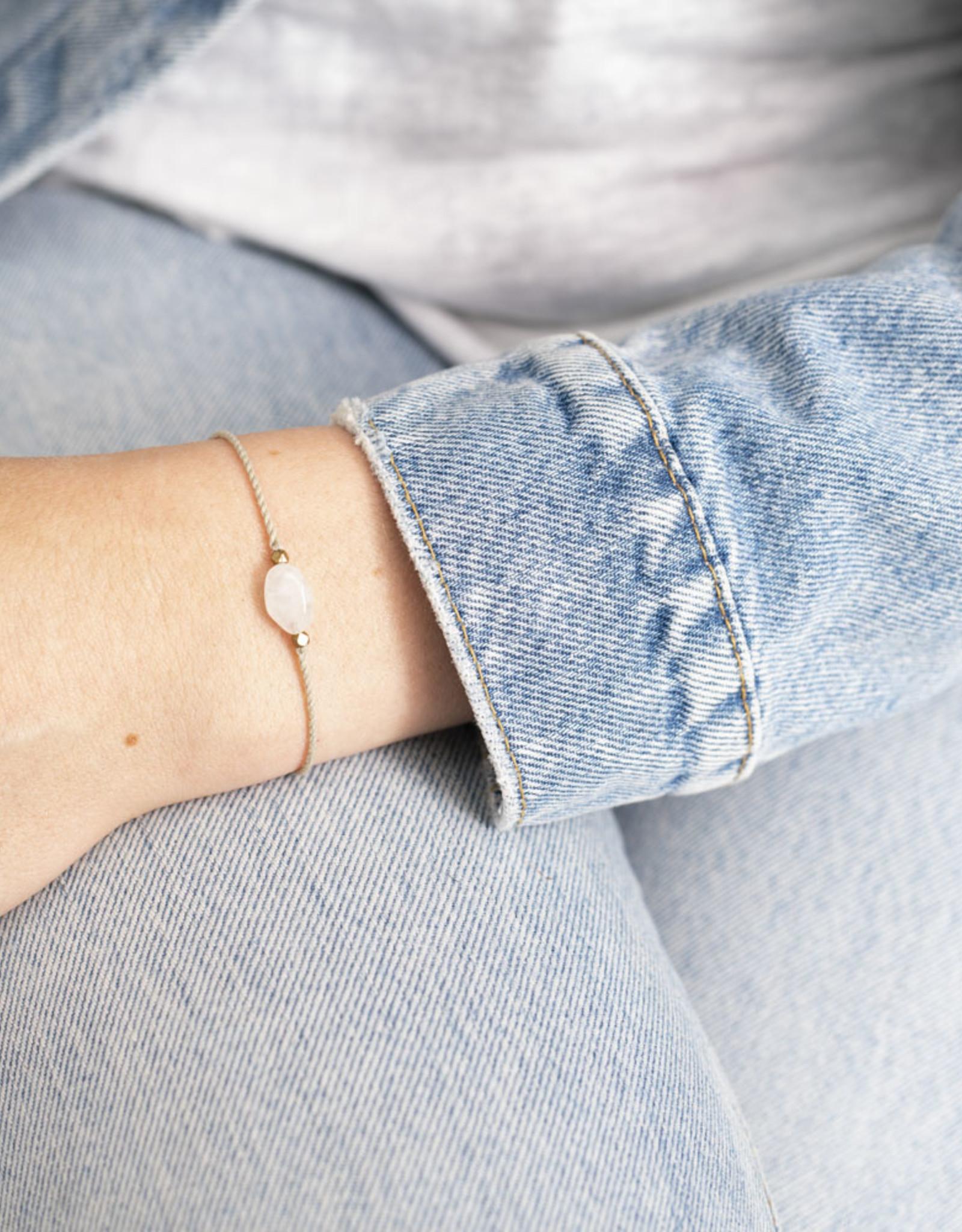 A Beautiful Story Bracelet 'Gemstone Card' - Moonstone