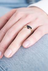 A Beautiful Story Ring 'Beauty' - Black Onyx Goud