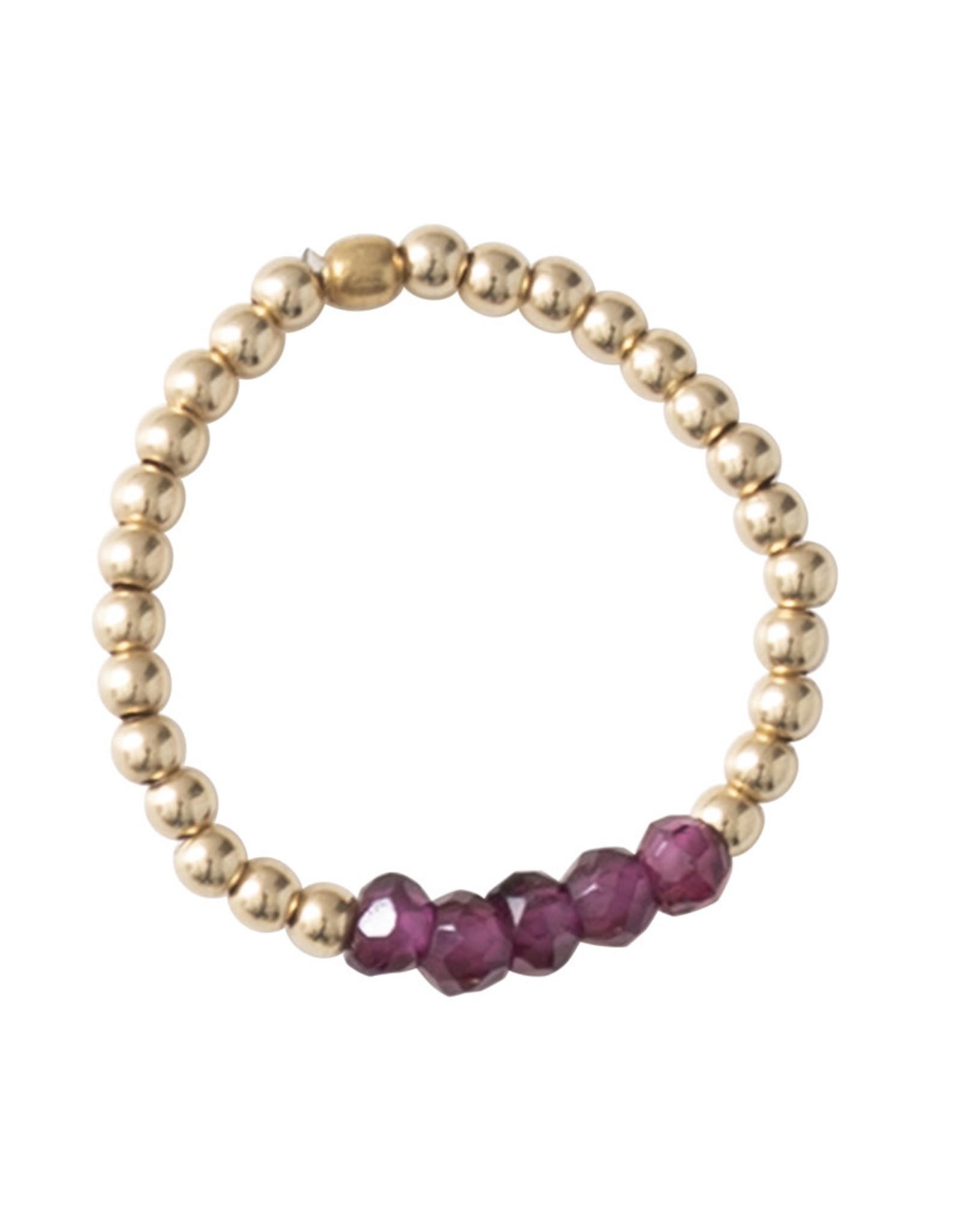 A Beautiful Story Ring 'Beauty' - Garnet Gold