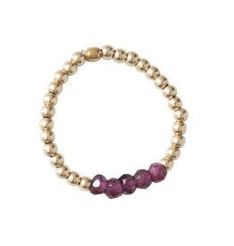 A Beautiful Story Ring 'Beauty' - Garnet Goud