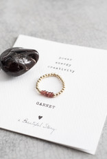 A Beautiful Story Ring 'Beauty' - Garnet Goud