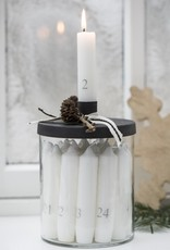 IBLaursen Adventscandles with glass holder
