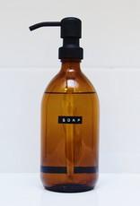 Wellmark Handzeep bamboo - Bruin glas / zwarte dop