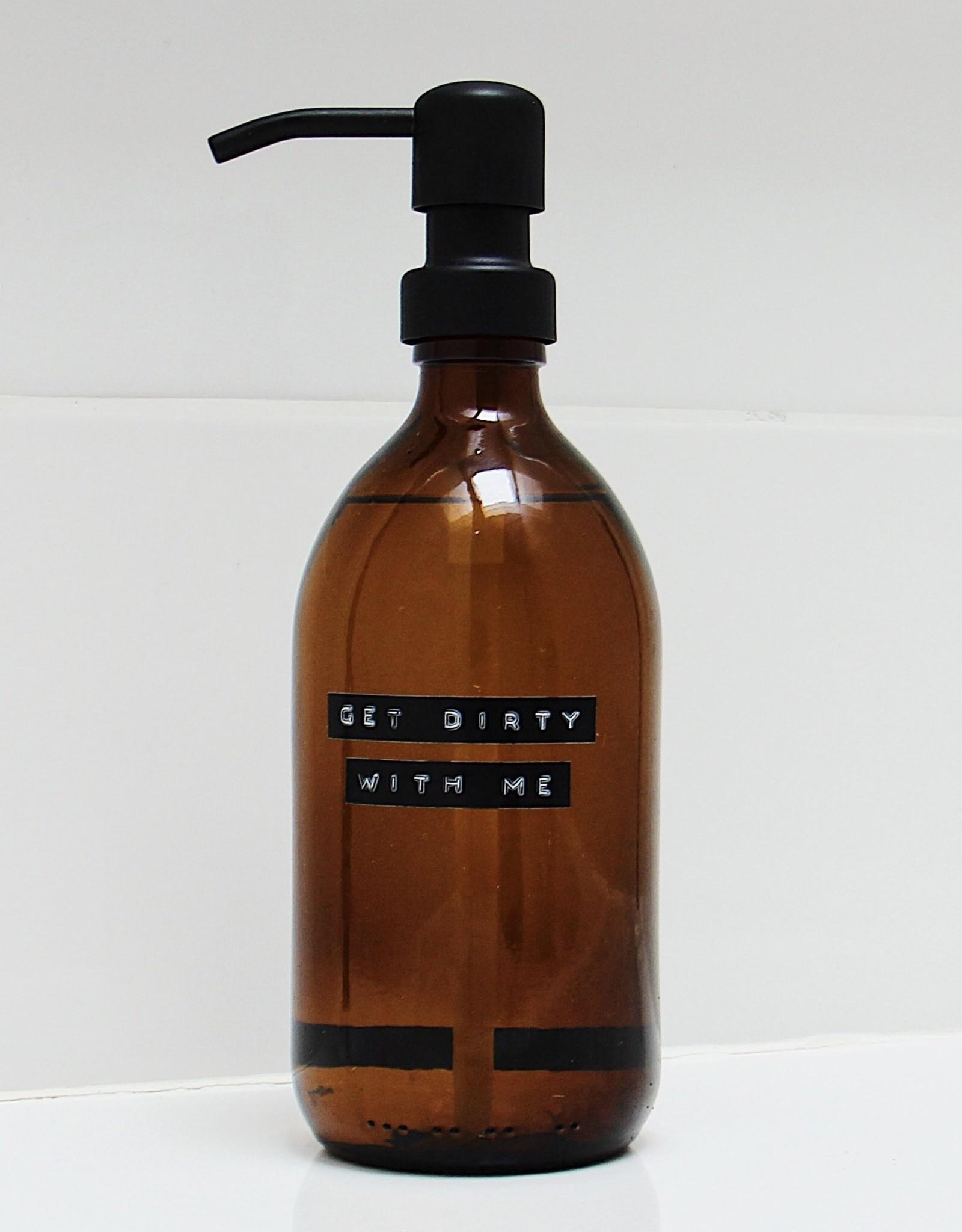 Wellmark Afwasmiddel 500ml  bruin glas / zwarte dop