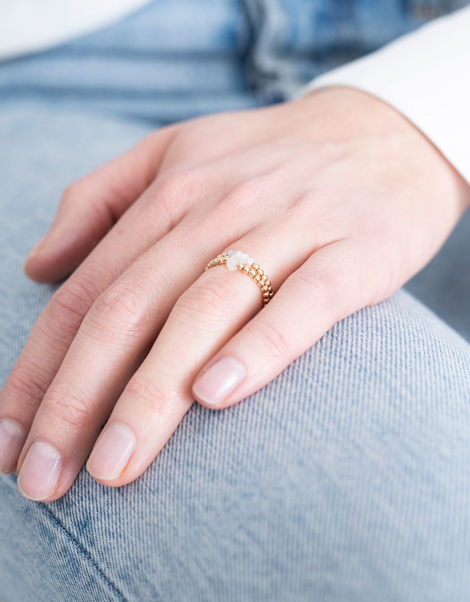 A Beautiful Story Ring 'Beauty' - Moonstone Goud