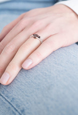 A Beautiful Story Ring 'Beauty' - Smokey Quartz Zilver