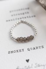 A Beautiful Story Ring 'Beauty' - Smokey Quartz Silver