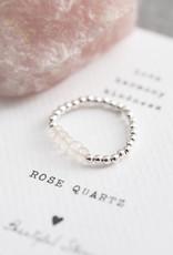 A Beautiful Story Ring 'Beauty' - Rose Quartz Zilver