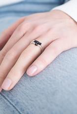 A Beautiful Story Ring 'Beauty' - Black Onyx Silver