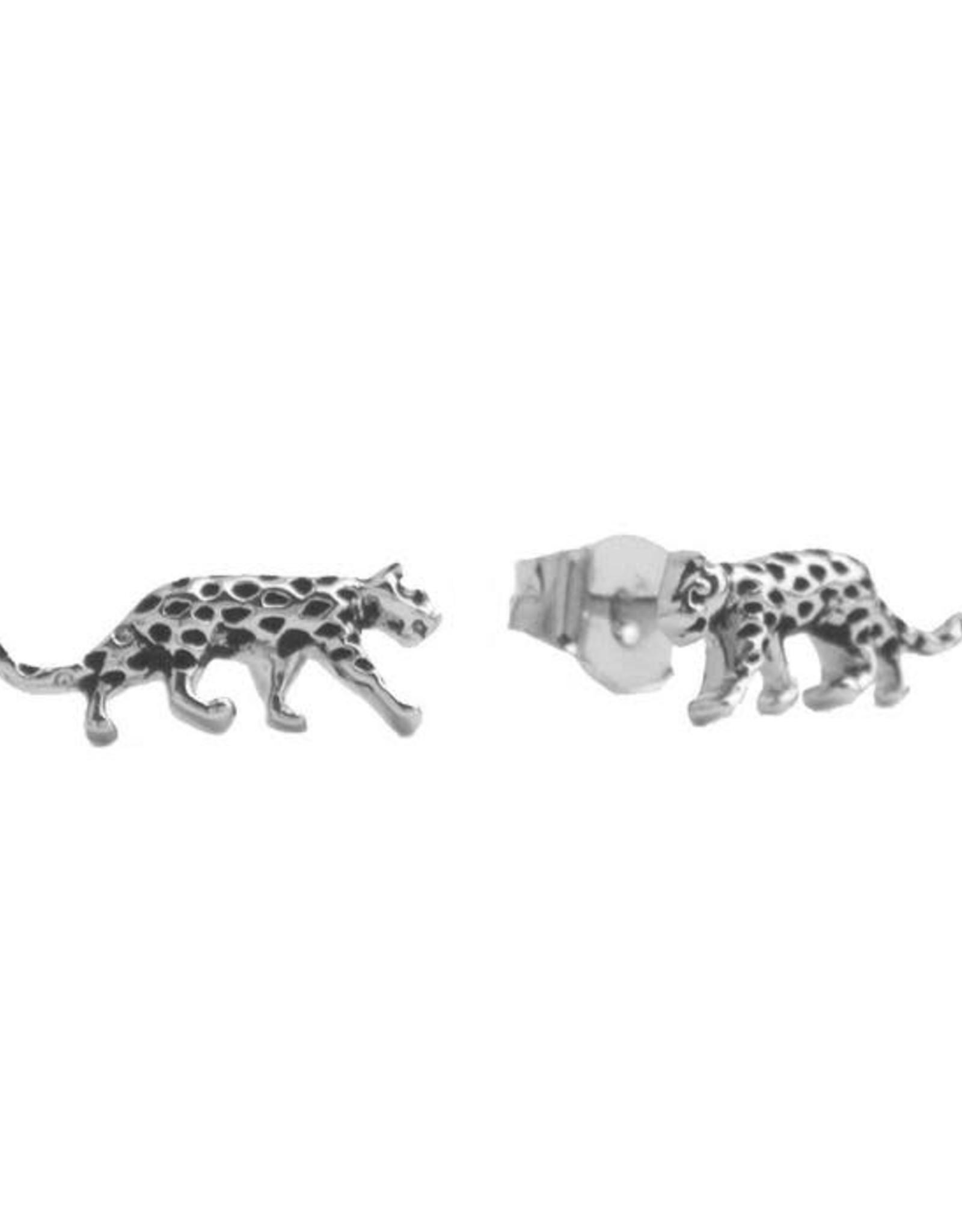 Oorbel Luipaard Zilver
