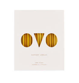 OVO-things Birthday Candles Beeswax 20 pieces