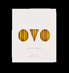 OVO-things Verjaardagskaarsjes Bijenwas 20 stuks