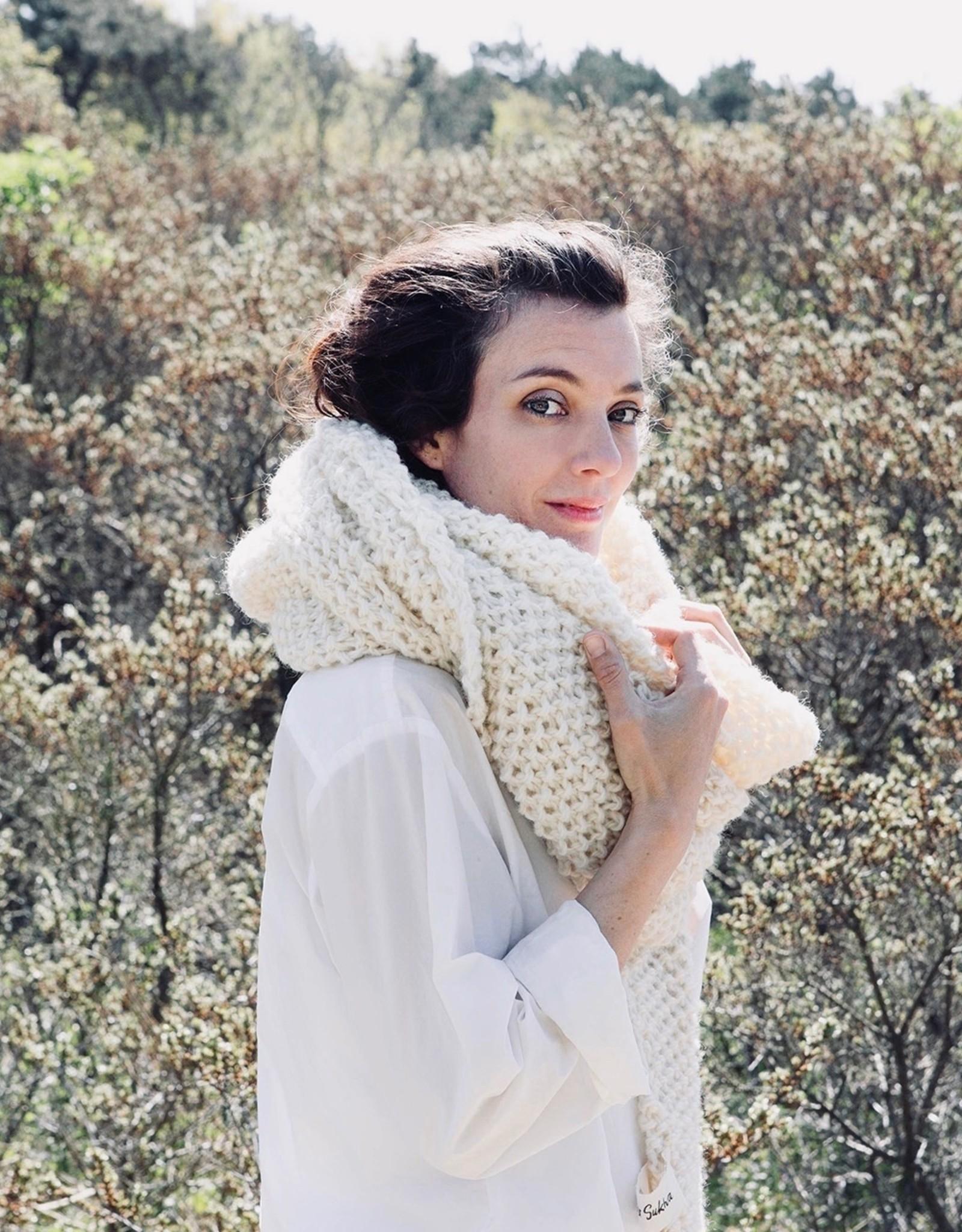 Sukha sjaal Fleur Nieuw-Zeelands wol