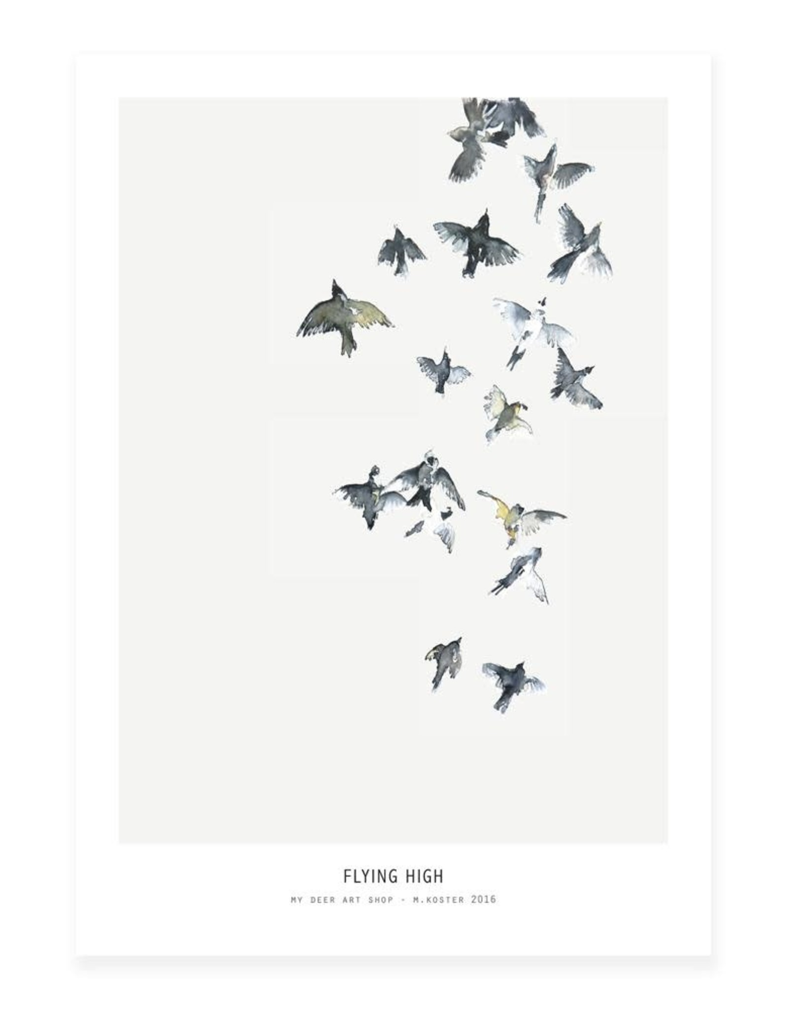 My Deer Art Shop A5 Mini Art Print - Flying High