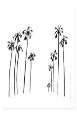 My Deer Art Shop A5 Mini Art Print - Palms